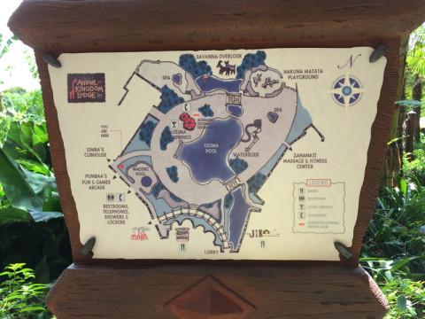 Mapa da área da piscina do Animal Kingdom Lodge - Jambo House