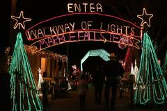 Luzes de Natal em Marble Falls
