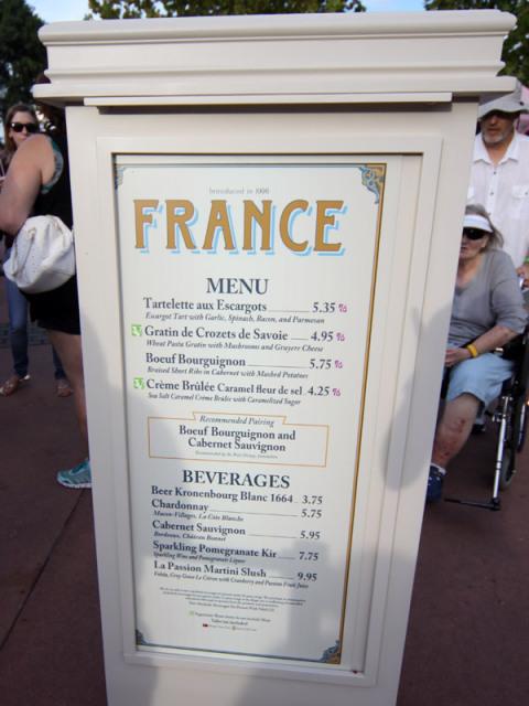 Menu da França