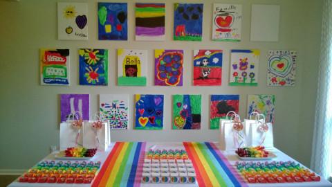 A galeria pronta depois - uma criança não quis pintar