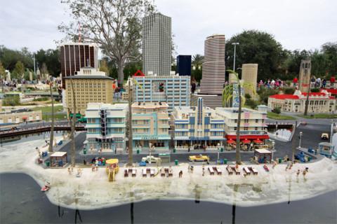 Miami Beach e seus prédios Art-Déco na Miniland USA