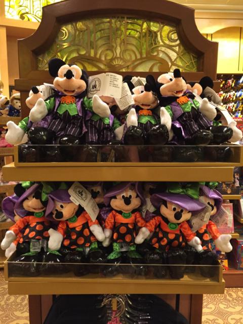 Mickey vampiro e Minnie bruxinha de pelúcia pro Halloween