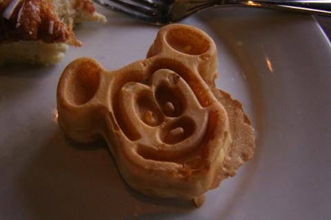 Waffle do Mickey no Ohana