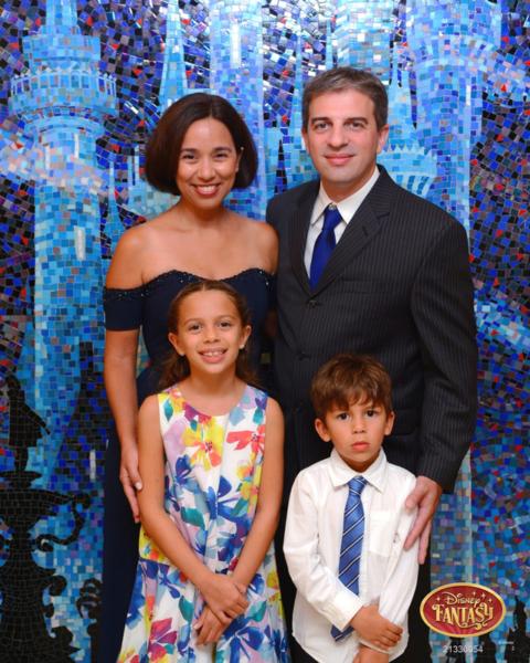 Nossa foto na noite formal do Disney Fantasy, agosto de 2016