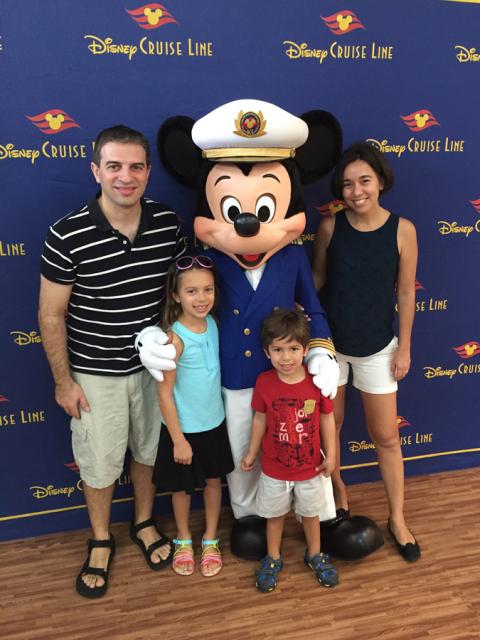 Foto de família no embarque em Porto Rico