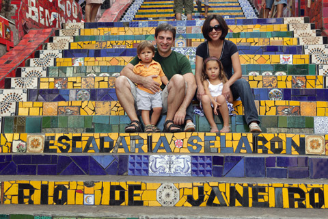 "Nós na Escadaria Selarón, foto de Gustavo ""Camarão"" Bordallo"