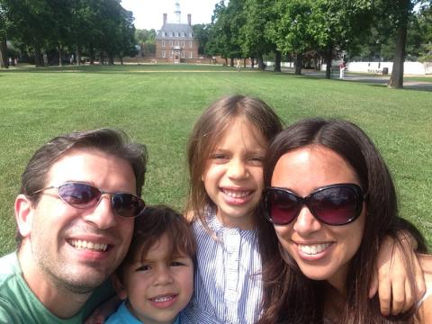 Selfie de família em Colonial Williamsburg
