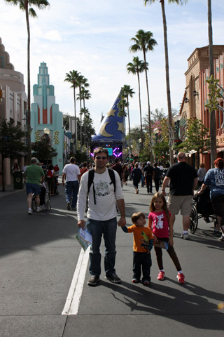 Gabe, Julia e Eric no Hollywood Studios
