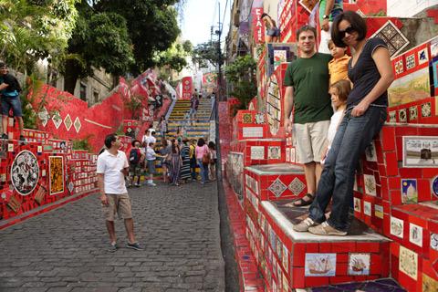 """Nós nas """"banheiras"""" laterais da Escadaria, foto de Gustavo """"Camarão"""" Bordallo"""