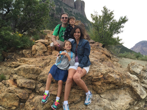 Foto de família na Lost Mine Trail