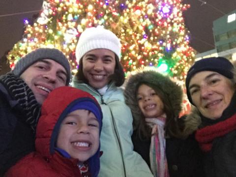 Selfie em downtown Detroit