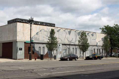 A fachada do Museum of Contemporary Art Detroit não foi pichada, e sim encomendada
