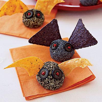 Aperitivos em forma de morcego para o Halloween
