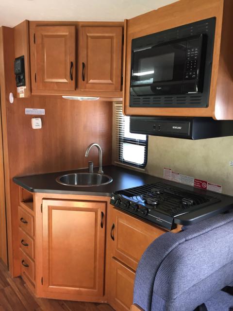 A cozinha do motorhome