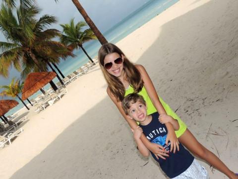 Na praia do hotel em Cancún