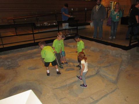Explorando civiliazações antigas no museu