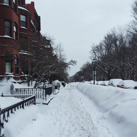 Neve em Boston: presença constante no inverno