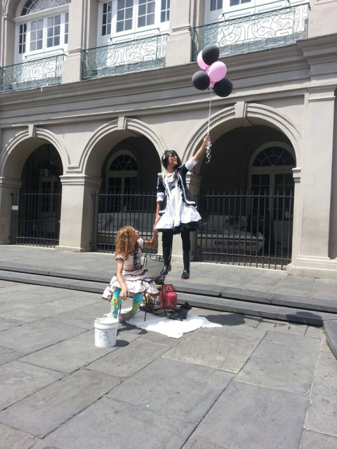 O French Quarter sempre tem artistas na rua
