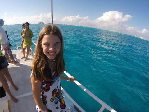 No barco para Isla Mujeres