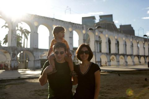 """Nós nos Arcos da Lapa - Julia não quis tirar foto Foto: Gustavo """"Camarão"""" Bordallo"""