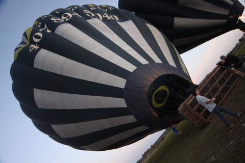 Nosso balão saindo do chão