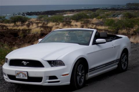 Nosso Mustang alugado