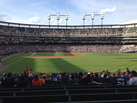 Vista dos nossos lugares no estádio