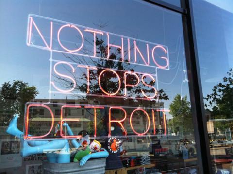 O espírito da cidade é esse: Nothing Stops Detroit