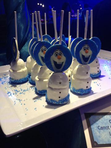 Cake pops de Olaf