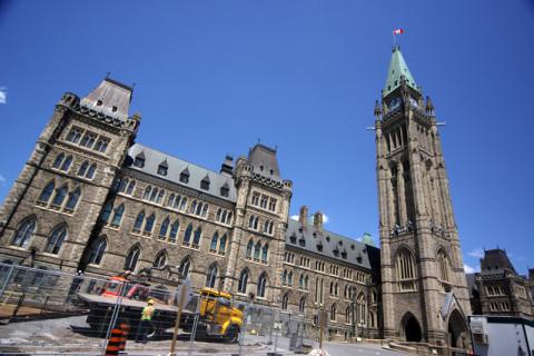 O Parlamento Canadense em obras