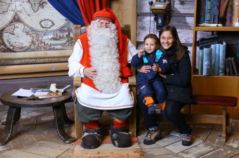 Papai Noel com Alê e Gabs