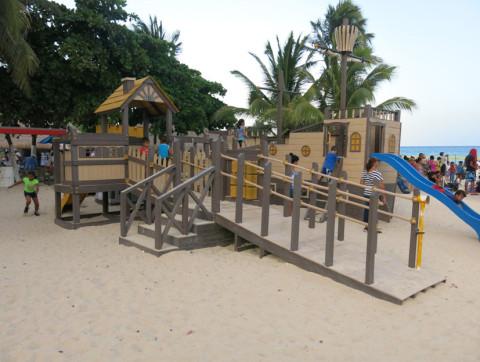 Pracinha no final da 5a Avenida em Playa del Carmen