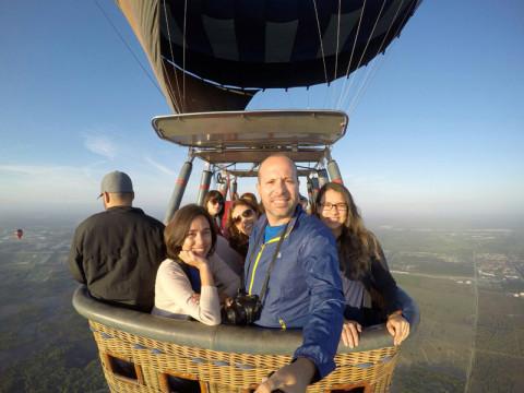 Passeio de balão em Orlando, foto do Maurício do blog Trilhas e Aventuras