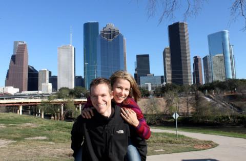 Patrícia e Stefan em Houston, Texas
