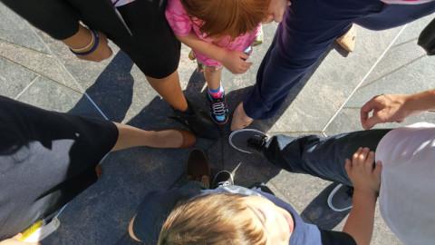 Com os pés em Temple Square