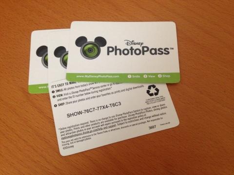 Esse é o cartão do PhotoPass que recebemos no final da atração Enchanted Tales with Belle