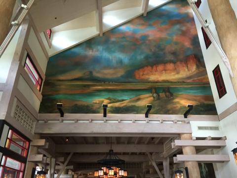 Uma das pinturas no Artist Point