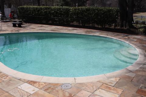 A piscina em Graceland