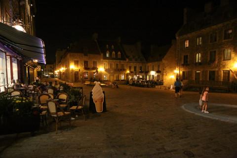 Place Royale, onde foi fundado o primeiro assentamento francês na América do Norte