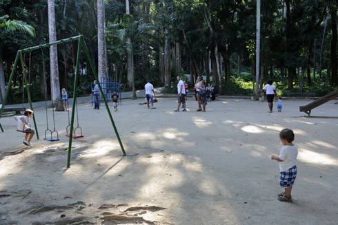 O playground do Parque Lage