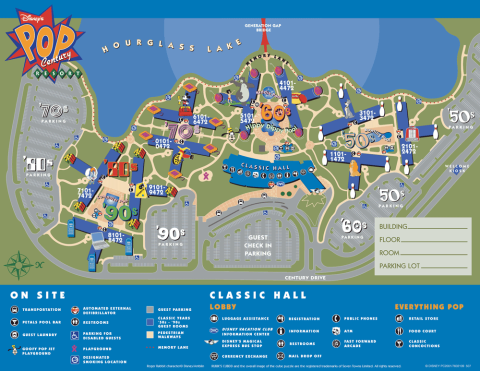 Mapa do Disney's Pop Century Resort