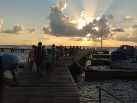 Pôr-do-sol maravilhoso em Isla Mujeres