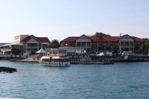 Chegando no Porto de George Town em Grand Cayman
