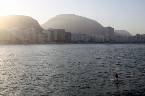 Final do dia em Copacabana