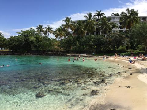 Uma das praias em Martinique