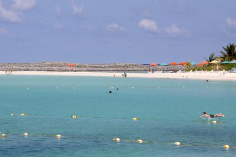 Finalzinho da praia onde ficam as cabanas privativas
