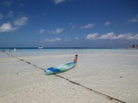 Praia maravilhosa do El Presidente em Cancún