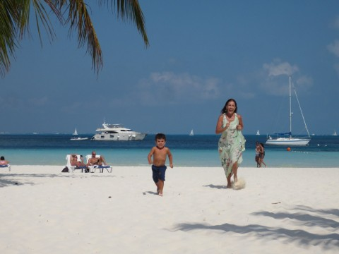 Correndo na praia do El Presidente