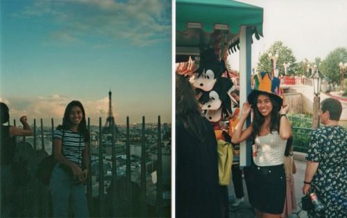 Eu na minha primeira viagem internacional, para Paris, que foi também a primeira vez na Disney