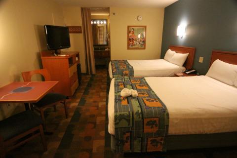 Nosso quarto no Pop Century, standard, com 2 camas de casal